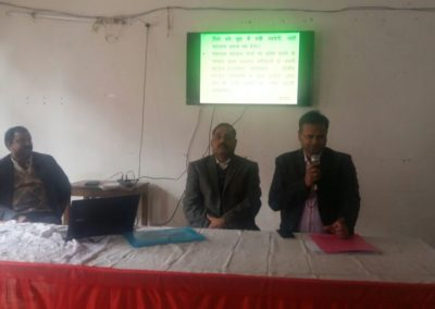 Mr. Ravindra Kumar , CDO Sitapur instructing to trainees